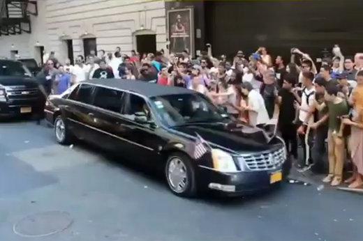 فیلم | وقتی بدل اوباما به خیابانهای نیویورک میرود
