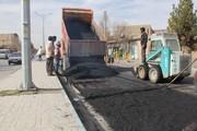 اجرای روکش آسفالت خیابان شهید دستغیب
