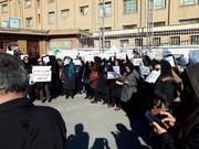 معلمان کرمانشاه مقابل اداره آموزش و پرورش تجمع کردند