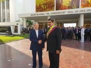 عکس حضور وزیر دفاع در مراسم تحلیف رئیسجمهور ونزوئلا