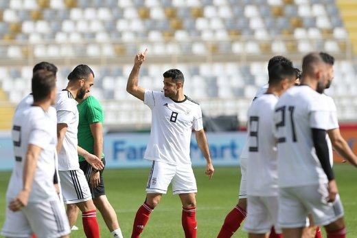تمرین تیم ملی در ورزشگاه آل نهیان