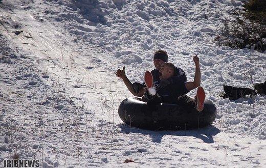 یک روز برفی در ارتفاعات مازندران - کیاسر