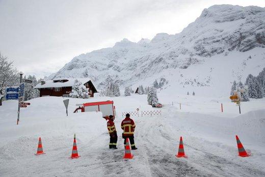 سقوط بهمن در سوئیس