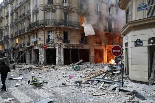 فیلم | انفجار مهیب نانوایی در پاریس با ۲۰ مجروح