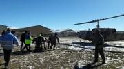 نخستین ماموریت اورژانس هوایی شهرستان تکاب: اعزام بیمار بدحال با بالگرد امداد هوایی از تکاب به زنجان