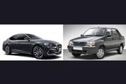 اختلاف ۶۵۲ میلیون تومانی ارزانترین و گرانترین خودروی تولید ایران