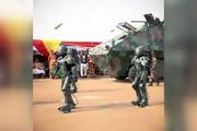 فیلم | نمایشگاه تسلیحات فوق مدرن در غنا!