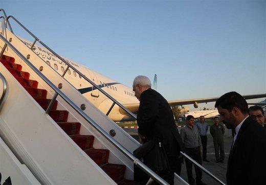ظریف مغادرا إلی العراق