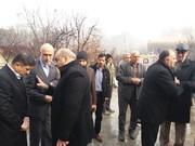 حضور استاندار البرز در محل سقوط هواپیمای باربری