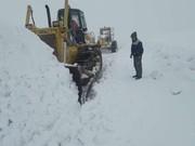 ارتفاع برف در این منطقه به ۱ متر رسید!