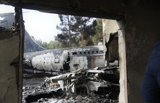 Plane crashes in west of Tehran