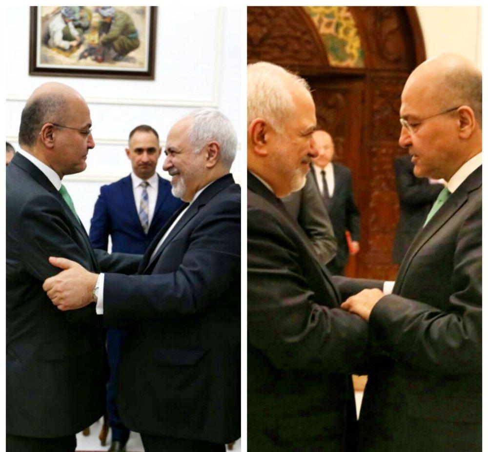 برهم صالح: ايران والعراق يشكلان ثقلا كبيرا وتاثيرا مهما في المنطقة/صور