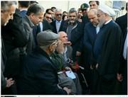 دیدار صمیمی روحانی با جانبازان گرگانی در خیابان