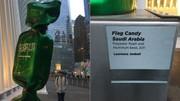 جنجال هنرمند فرانسوی و پرچم عربستان در نیویورک