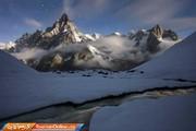 تصاویر | شب در پربازدیدترین رشته کوه دنیا