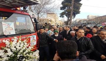 پیکر شهید آتشنشان «احسان جامعی» تشییع شد