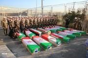 تصاویر | تشییع پیکر قربانیان حادثه بوئینگ ۷۰۷ ارتش