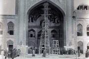 عکس   مرمت حرم امام رضا(ع) در دوره قاجار