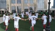 تمرین سبک ملیپوشان در هتل پیش از دیدار با عراق/ عکس