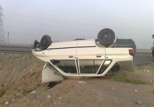 راننده پراید به بیرون از خودرو پرتاب شد و جان باخت