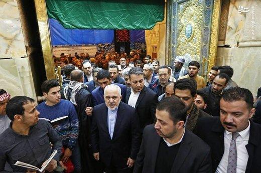 حضور محمدجواد ظریف در حرم امام حسین(ع)