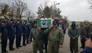 پیکر مطهر ۳ نفر از شهداء سقوط هواپیمای ارتش در همدان تشیع شد