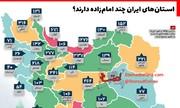 اینفوگرافیک | استانهای ایران چند امامزاده دارند؟