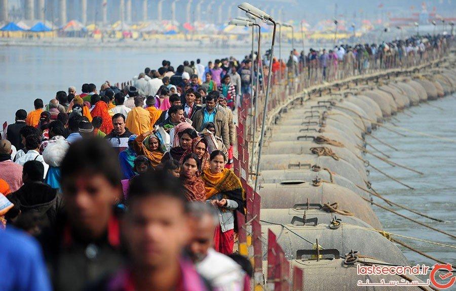 پلهای شناوری که برای حضور ۱۰۰ میلیون نفر ساخته میشوند