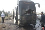 تصاویر | آتشسوزی اتوبوس بینشهری در بزرگراه تهران-کرج