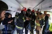 عکس | خانمهای آتشنشان در مانور اضطراری مشهد