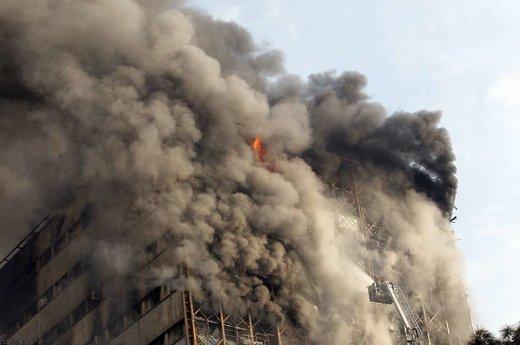 30 دی 1395؛ آتشسوزی و ریزش ساختمان پلاسکو