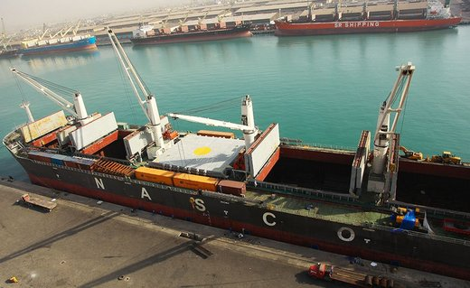 Over 55m tons of goods discharged from Iran's Shahid Rajaei Port in 9 months