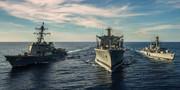 رزمایش نظامی آمریکا و انگلیس در دریای چین