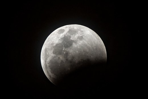 ماه گرفتگی در شهر میامی ایالت فلوریدا آمریکا