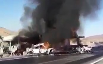 فیلم | قاچاق سوخت دو پژو ۴۰۵ را خاکستر کرد