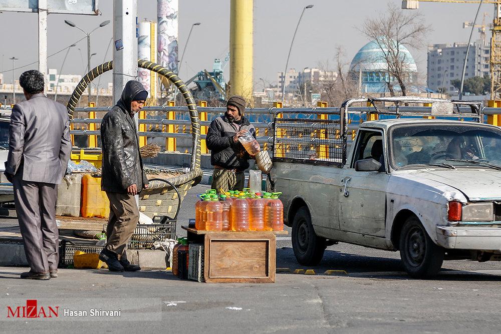 بنزین فروشی در تهران