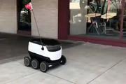 فیلم | رباتهایی که جایگزین پیک موتوری رستوران میشوند