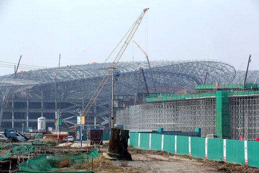 ادامه ساخت فرودگاه بینالمللی داشینگ پکن در 16 اکتبر 2017