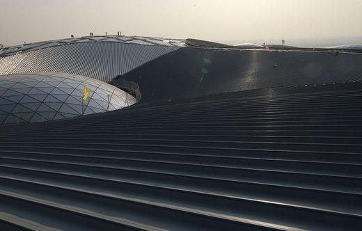 ادامه ساخت فرودگاه بینالمللی داشینگ پکن در 17 ژانویه 2018
