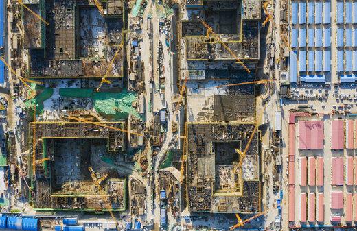 تصویر هوایی از ساخت و ساز در  فرودگاه بینالمللی داشینگ پکن