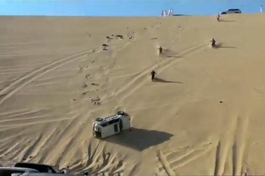 فیلم | عاقبت تلخ جوگیر شدن راننده آفرود در امارات