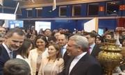 بازدید خاندان سلطنتی اسپانیا از غرفه گردشگری ایران در مادرید