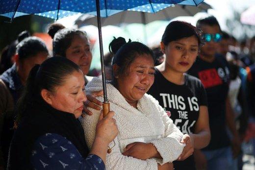 واکنش شهروندان ایالت ایدالگو مکزیک به مرگ خویشاوندانشان در حادثه انفجار خط لوله نفتی