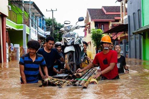 وقوع سیل در اندونزی