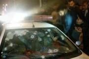عکس   تیراندازی افراد ناشناس به خودروی ماموران ناجا