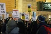 تصاویر | تجمع آمریکاییها برای حمایت از مرضیه هاشمی