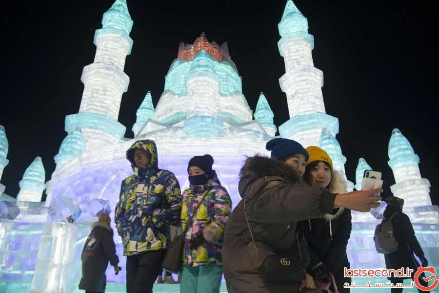 عکس های از فستیوال یخ و برف 2019