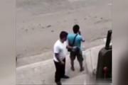 فیلم   واکنش یک کیفقاپ بعد از دیدن دوربین امنیتی!