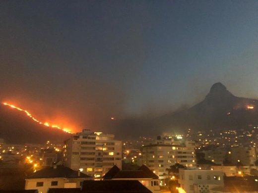 آتشسوزی در آفریقای جنوبی