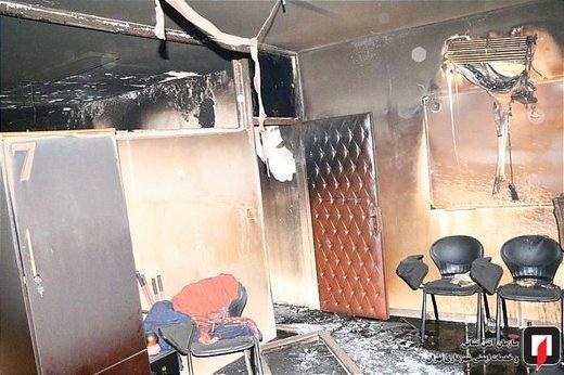 آتش سوزی در آموزشگاه کنکور